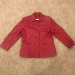 Vintage Red Leather EXcelled Jacket
